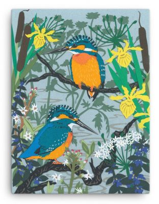 Kingfishers and River Plants Canvas Print