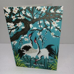 Cranes and Blossom